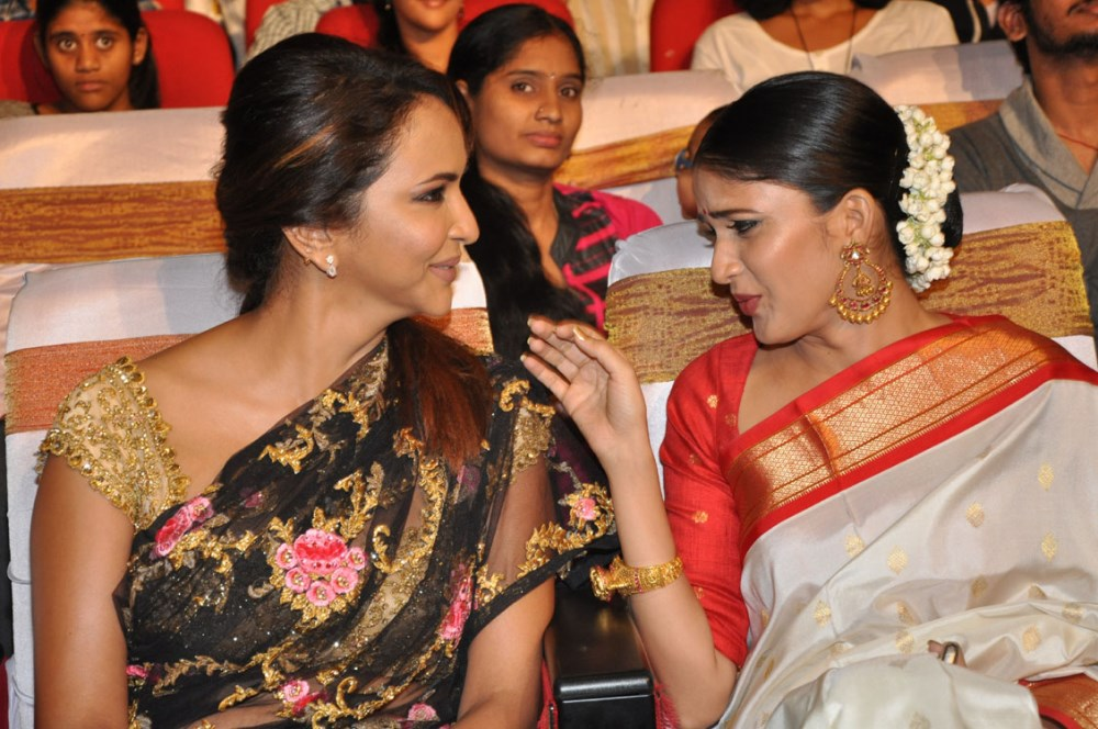 Manchu Lakshmi, Lavanya Tripathi @ Lacchimdeviki O Lekkundi Movie Audio Launch Stills
