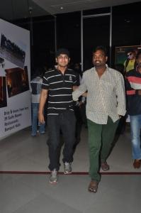 Nikhil Siddharth @ Lakshmi Raave Maa Intiki Premiere Show at Cinemax