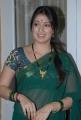 Lakshmi Rai Green Saree Photos at Rani Ranamma Movie Launch