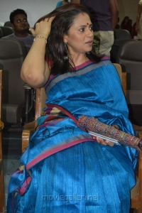 Tamil Actress Lakshmi Ramakrishnan in Blue Saree Stills