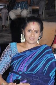 Lakshmi Ramakrishnan in Blue Saree Stills
