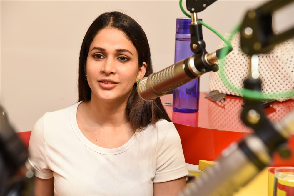 Actress Lavanya Tripathi @ Arjun Suravaram First Song Launch Photos