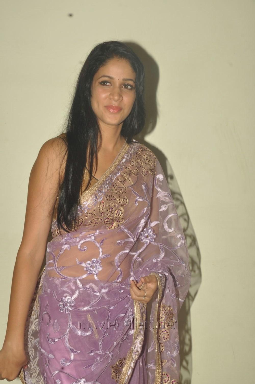 Telugu Actress Lavanya Tripathi Hot Transparent Saree Photos Geetha Images