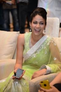 Lavanya Tripathi Hot Photos in Light Yellow Green Transparent Saree