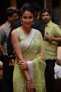 Actress Lavanya Tripathi in Saree Hot Photos @ Doosukeltha Audio Release