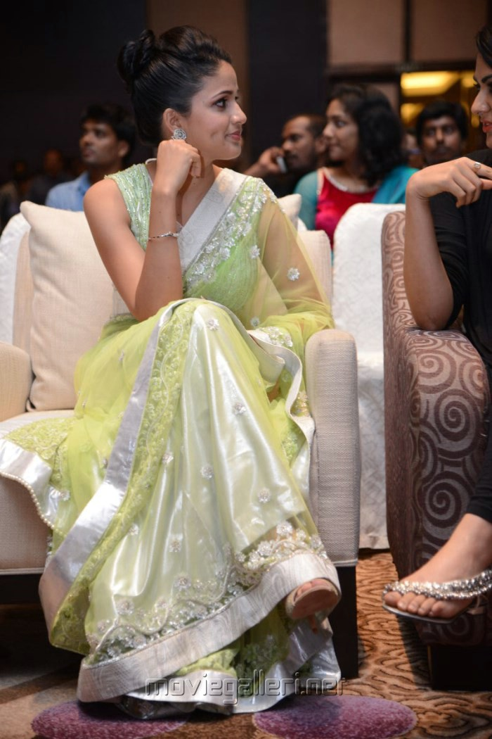 Actress Lavanya Tripathi in Saree Hot Photos @ Doosukeltha Audio Release
