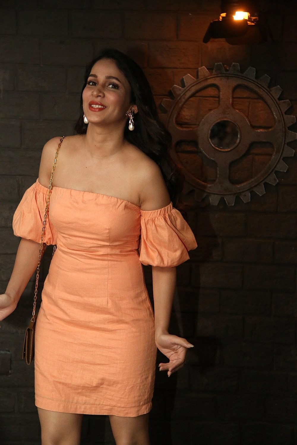 Actress Lavanya Tripathi New Stills @ Arjun Suravaram Success Celebrations
