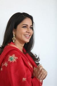 Actress Lavanya Tripathi Red Churidar Dress Photos