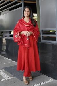 Chaavu Kaburu Challaga Movie Actress Lavanya Tripathi in Red Churidar Photos
