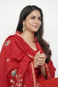 Actress Lavanya Tripathi Red Churidar Photos