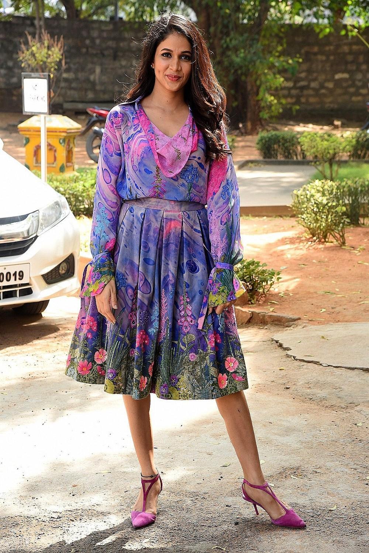 Actress Lavanya Tripathi Stills @ Arjun Suravaram Movie Success Meet
