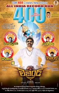 Balakrishna's Legend Movie 400 Days Posters