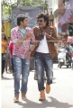 Santhanam, Rajinikanth @ Lingaa Movie Working Stills