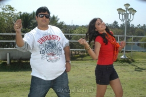 Krishnudu, Bhanu Sri Mehra in Lingadu Ramalingadu Movie Stills