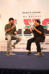 RJ Balaji, Mayilsamy @ LKG Movie Press Meet Stills