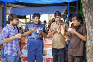 Rakshith, Satya, Dhanraj, Jeeva in London Babulu Movie Stills