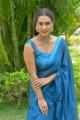 Telugu Actress Lora Maddison in Light Blue Saree Photos