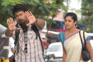 Shanthanu Bhagyaraj, Aindrita Ray in Love in Hyderabad Movie Stills