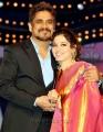 Nagarjuna & Tamanna at Cinemaa Awards 2012 Stills