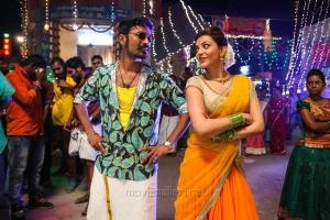 Dhanush, Kajal Agarwal in Maari Movie Stills