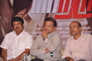 Kalpathi S Ganesh, KV Anand, V.Srinivas Mohan at Maatran Movie Success Meet Photos