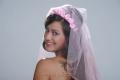 Madalasa Sharma Stills in Wedding Gowns