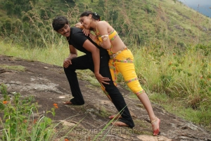 Ashwin, Siju Rose in Madhavanum Malarvizhiyum Movie Stills
