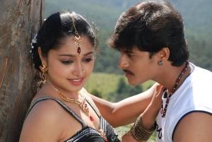 Siju Rose, Ashwin in Madhavanum Malarvizhiyum Movie Stills