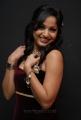 Madhavi Latha Latest Hot Stills in Dark Red Violet Dress