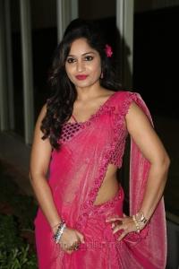 Telugu Actress Madhavi Latha Pink Saree Hot Stills