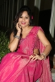 Telugu Actress Madhavi Latha Hot Pink Saree Stills