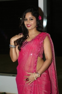 Actress Madhavi Latha Glam Pics In Pink Saree
