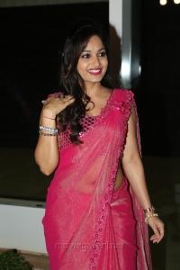 Actress Madhavi Latha Hot Stills in Pink Saree