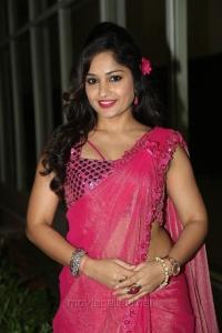 Actress Madhavi Latha in Pink Saree Hot Stills