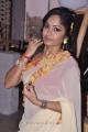 Actress Madhavi Latha in Cream Georgette Saree Hot Photos