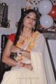 Actress Madhavi Latha Hot Stills in Cream Georgette Saree