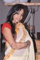 Telugu Actress Madhavi Latha Cream Color Saree Hot Stills