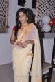 Madhavi Latha Latest Hot Stills in Cream Georgette Saree