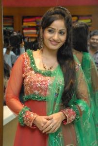 Madhavi Latha at Sreeja Fashions South Silk Festival 2013, Hyderabad