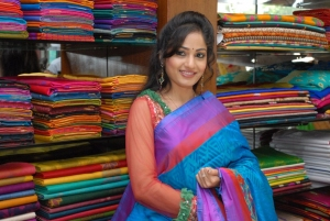 Madhavi Latha in Saree at Sreeja Fashions Silk Festival 2013, Hyderabad