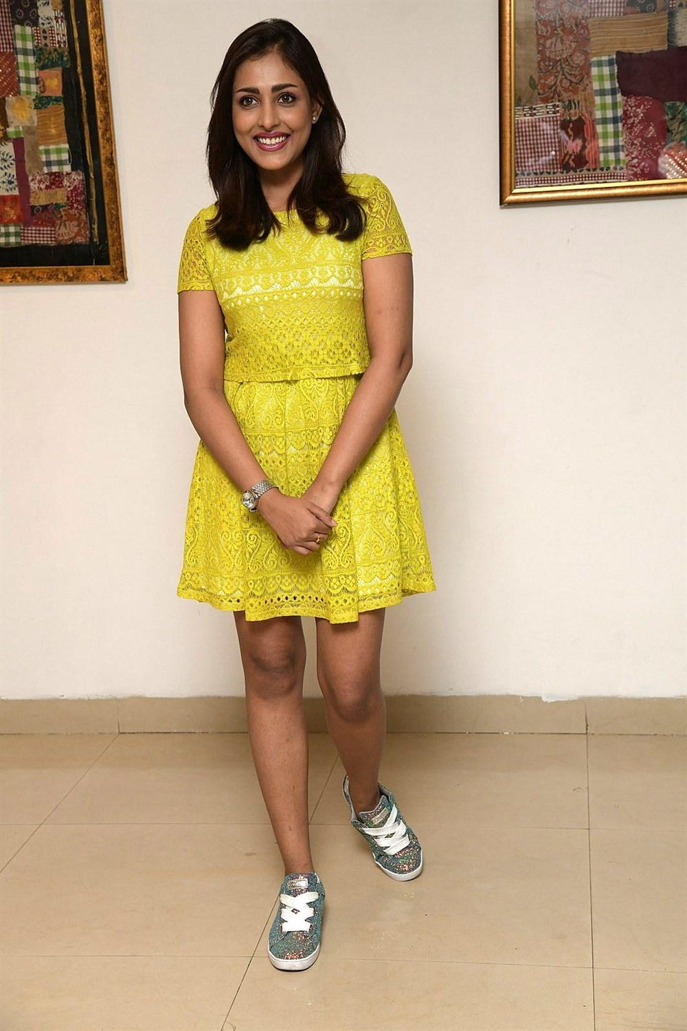 Telugu Actress Madhu Shalini Photos @ Omly App Logo Launch