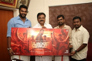 Captain Vijayakanth, Shanmuga Pandian, PG Muthaiah @ Madhura Veeran Movie First Look Launch Stills
