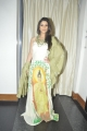 Actress Madhurima New Photos in Sleeveless Buddha Printed Long Dress