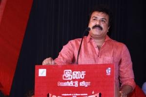 LK Sudhish @ Madurai Veeran Audio Launch Stills
