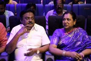 Vijayakanth, Premalatha @ Madurai Veeran Audio Launch Stills