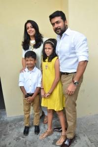 Suriya, Jyothika, Diya, Dev @ Magalir Mattum Audio Launch Stills