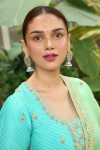 Actress Aditi Rao Hydari Stills @ Maha Samudram Movie Promotions