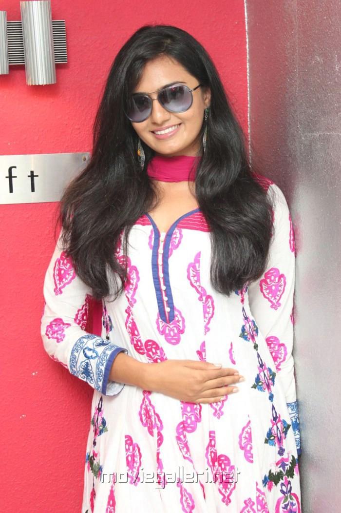 Actress Pooja Lokesh at Mahabharatham Tv Serial Press Meet Stills