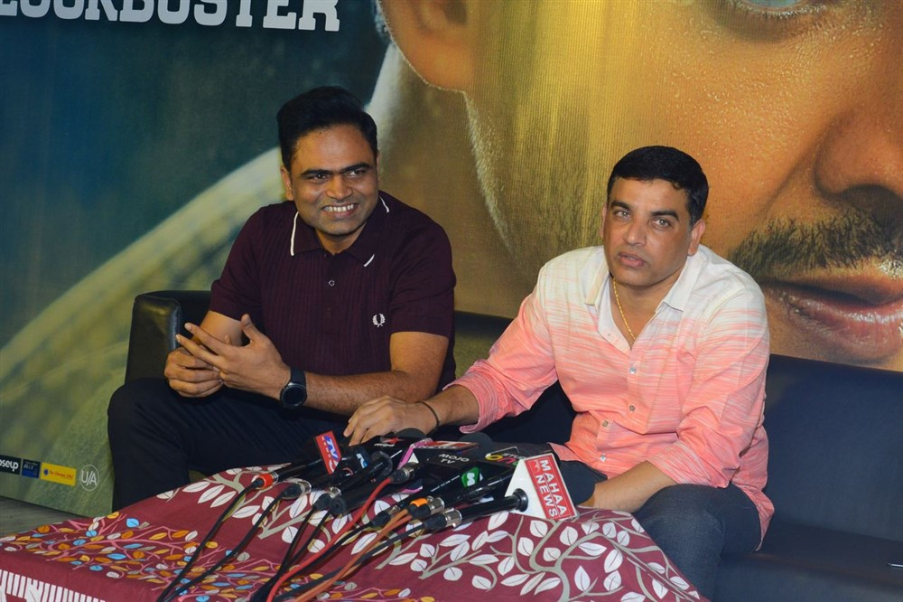 Vamsi Paidipally & Dil Raju @ Maharshi 175 Crores Collections Press Meet Stills