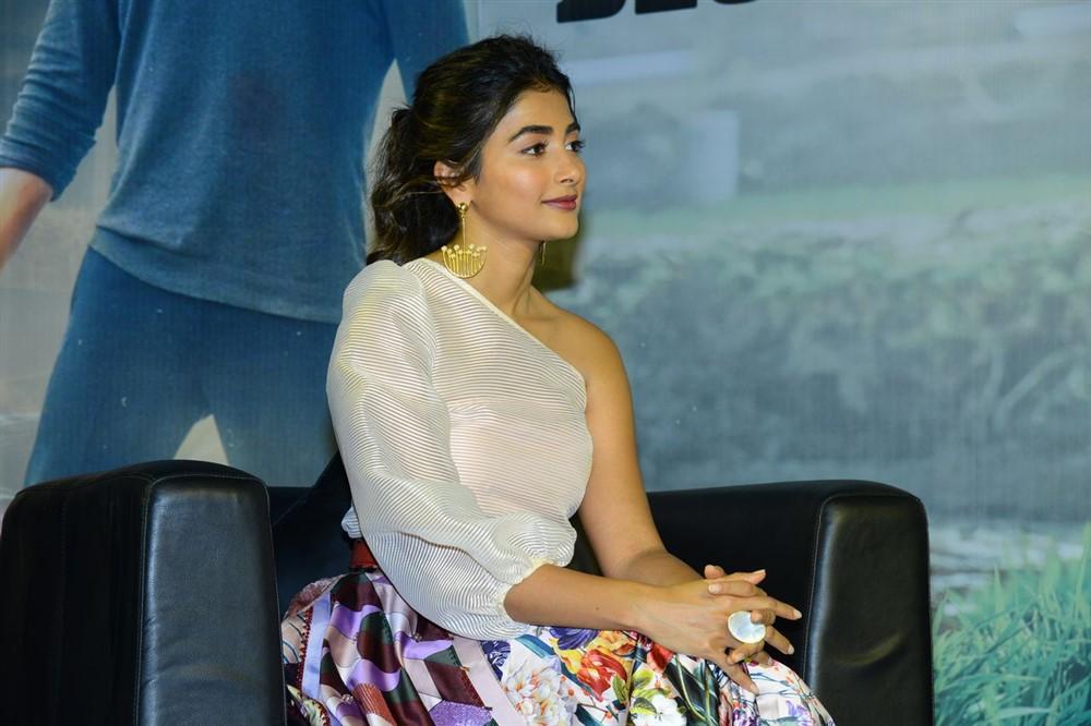 Actress Pooja Hegde @ Maharshi Movie Success Celebrations Stills